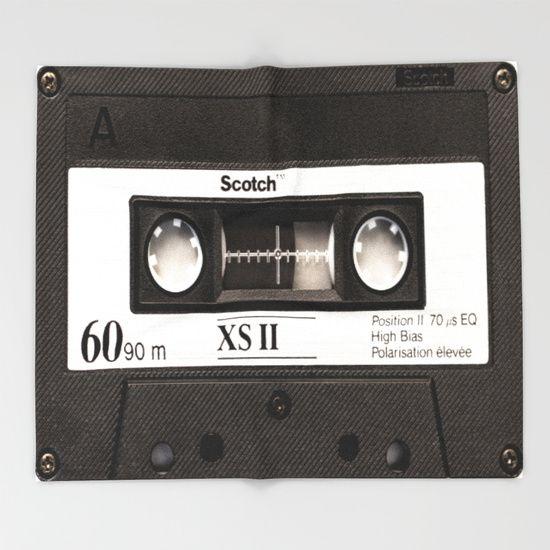 Cassette Tape Throw Blanket