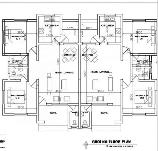 2 Bedroom Flat Floor Plan In Nigeria In 2020 Bungalow Floor Plans Flat House Design Floor Plans