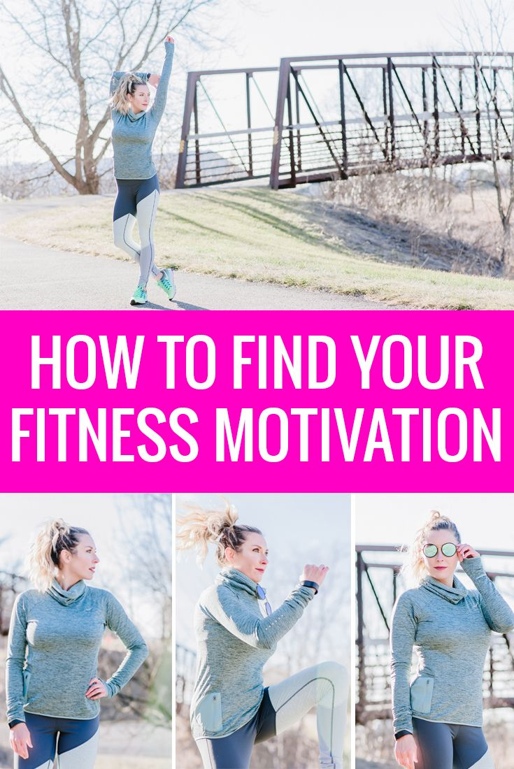 Stay motivated in the gym with these 5 tips. Workout outfit details: Nike blue pullover top, Zella blue and white workout leggings, neon green Nike running shoes.