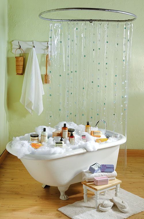 Hula hoop shower crafts country store pinterest for Bathroom displays