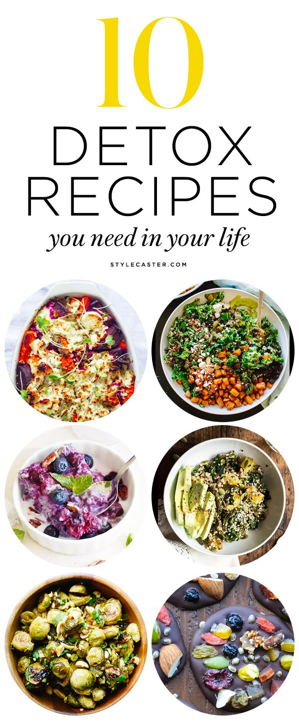 10 Healthy Detox Recipes you need to try | From superfood-packed veggie bakes to sweet chocolate desserts (yes, we said chocolate). These clean-eating recipes are easy to make at home and are guaranteed to reboot your system. | @StyleCaster