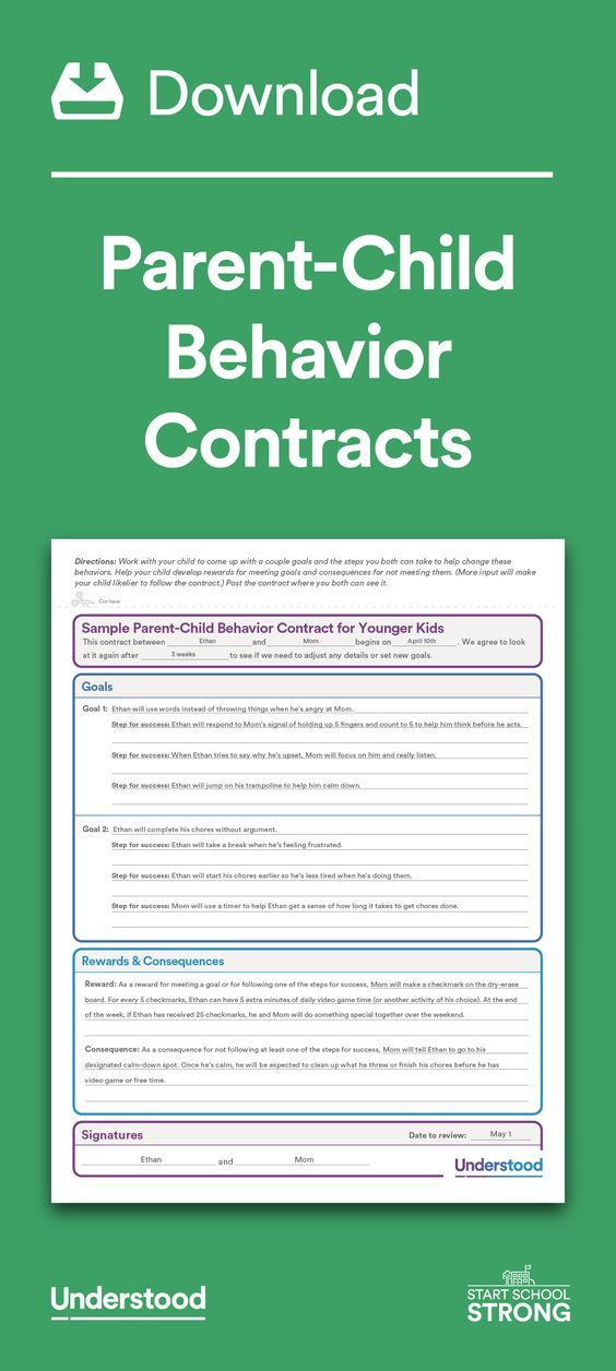 25 best ideas about Behavior Contract – Sample Behavior Contract