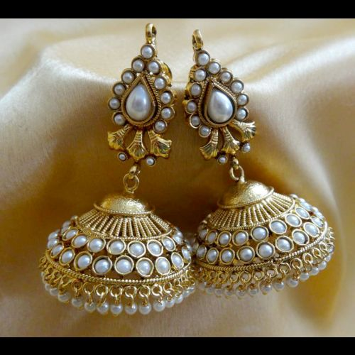 Ornativa Pretty amazing kundan jhumka - Earrings by OrnativaDotCom
