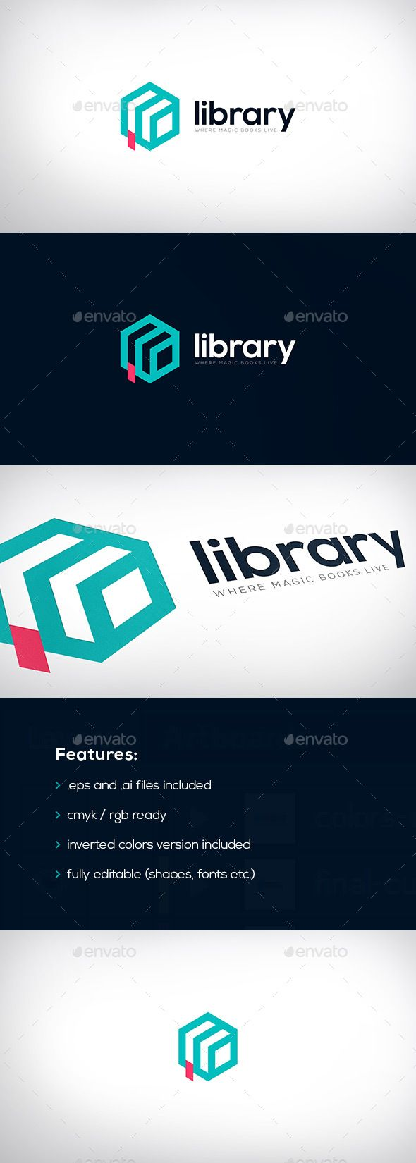 Library Logo Template Vector EPS, AI Illustrator. Download here: https://graphicriver.net/item/library-logo/17573488?ref=ksioks