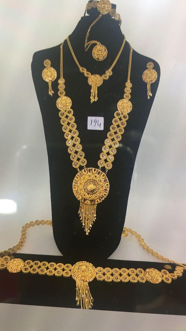 طقم ذهب كويتي عيار 21 Www Igooold Com Gold Fashion Necklace Gold Jewelry Fashion Gold Necklace Designs