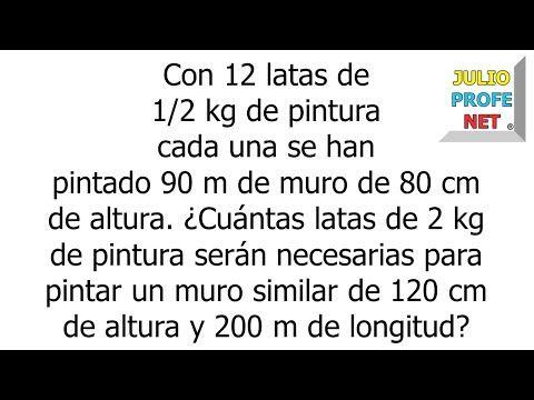 REGLA DE TRES COMPUESTA - Problema 5 - YouTube