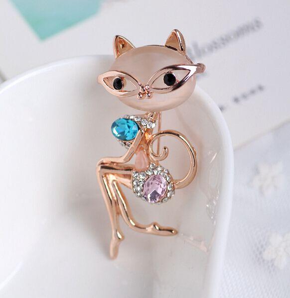 Elegant Cat Opal Crystal Brooch //Price: $ 10.49 & FREE Shipping //     #jewelry #jewels #jewel #fashion #gems #gem #gemstone #bling #stones   #stone #trendy #accessories #love #crystals #beautiful #ootd #style #accessory   #stylish #cute #fashionjewelry  #bracelets #bracelet #armcandy #armswag #wristgame #pretty #love #beautiful   #braceletstacks #earrings #earring