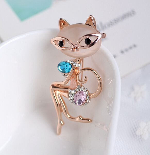 Elegant Cat Opal Crystal Brooch //Price: $ 10.49 & FREE Shipping //     #jewelry #jewels #jewel #fashion #gems #gem #gemstone #bling #stones   #stone #trendy #accessories #love #crystals #beautiful #ootd #style #accessory   #stylish #cute #fashionjewelry  #bracelets #bracelet #armcandy #armswag #wristgame #pretty #love #beautiful   #braceletstacks #earrings #earring