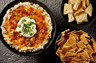 """Loaded """"Baked Potato"""" Dip recipe..I want all of this in my belly."""