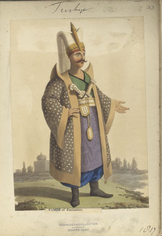 Colonel of Janisaries. The Vinkhuijzen collection of military uniforms / Turkey, 1818. See McLean's Turkish Army of 1810-1817.