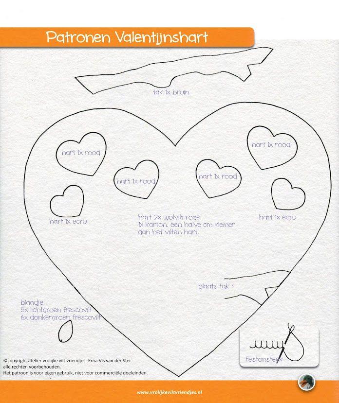 Valentijnshart patroon 2/2