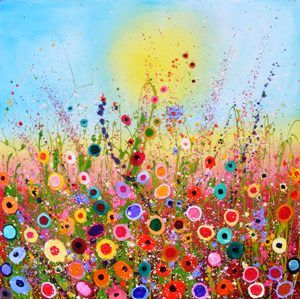 .: Colors Flower, Yvonne Coomber, Art, Girls Room, Happy Colors, Pictures, Flower Fields, Painting, Bright Colors