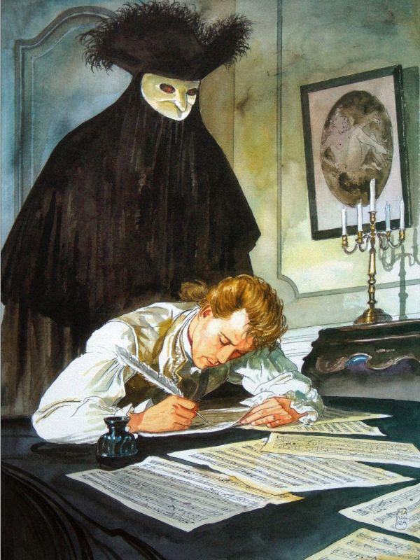 Milo (Maurilio) Manara (Italian, born 1945) Illustrazione per il libro Pentiti su Mozart 2005 г.