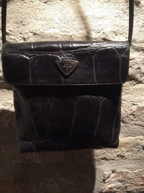 1990's Joop leather shoulder purse crossbody by nicevintageshop