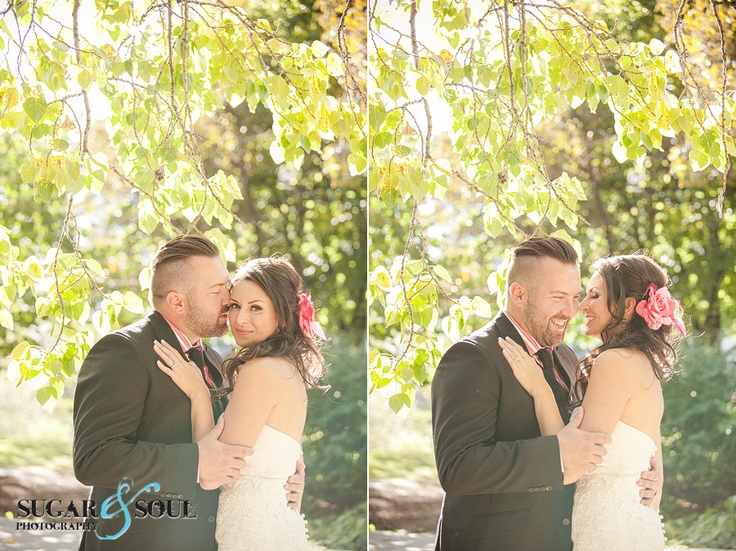 Hot pink details and an adorable couple! Sugar & Soul Photography
