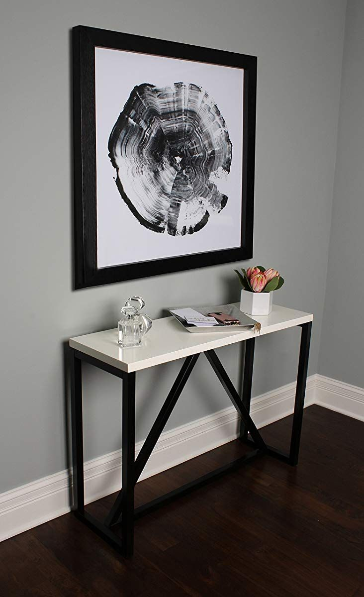 Console Table With White And Black Wood Console Table Console Table Wood Console