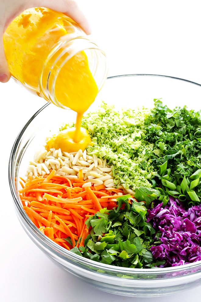 This detox salad is SERIOUSLY delicious -- made with all sorts of feel-good ingredients, and topped with a tasty Japanese carrot-ginger dressing.   gimmesomeoven.com (Vegan / Vegetarian / Gluten-Free)