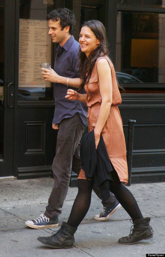 "Katie Holmes and Luke Kirby 2013--Making the film ""Mania Days""--wonder if it is a good film."