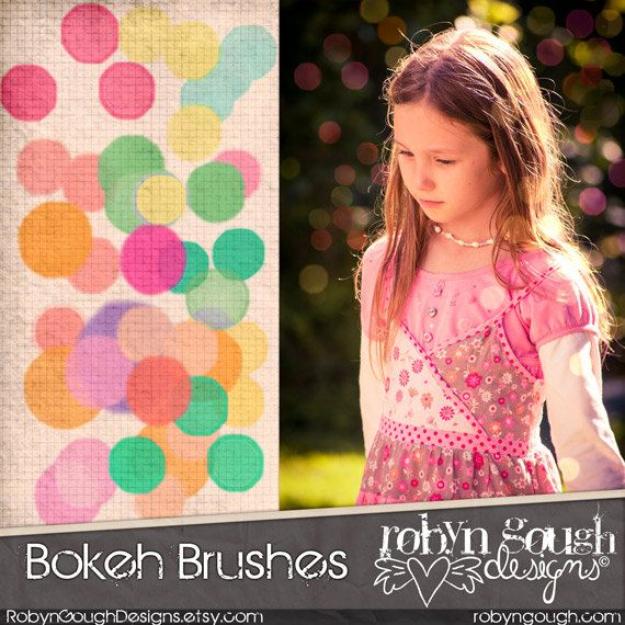 Bokeh Photoshop Brushes Clipart - Bokeh Photography Brushes by Robyn Gough on Etsy, digiscrap digital scrapbooking, photography