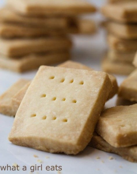 Classic Shortbread cookies recipe to celebrate the arrival of a Princess!  @whatagirleats