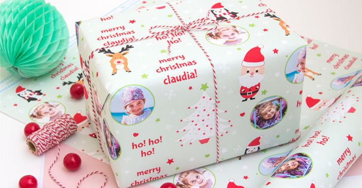 Personalised wrapping paper for Christmas gifts is a sure-fire way to make the recipients feel special.