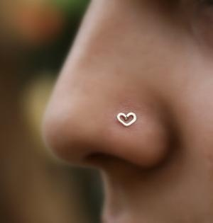 heart nose ring