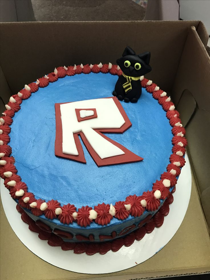 Roblox Sir Meows a lot birthday cake