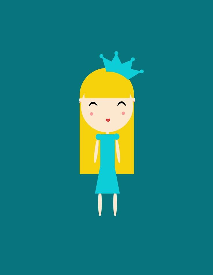 Little Princess. #Illustration #Princess
