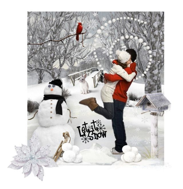 Let It Snow! by fractallicious on Polyvore featuring art
