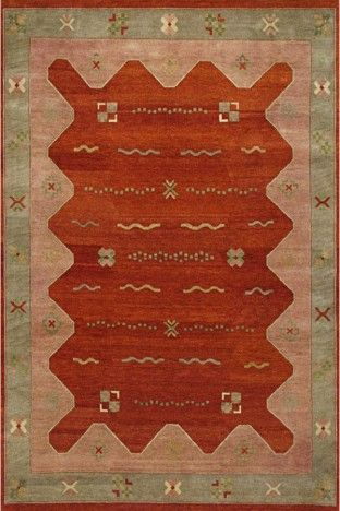 Rust Affordable Gabbeh Wool Rug GB-30 $600.00