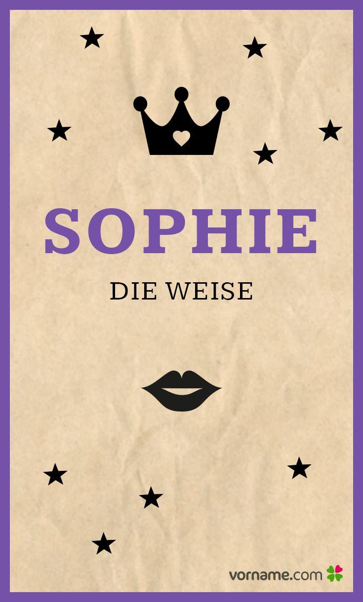 Ein Klassiker mit so einer schönen Bedeutung! Alle Infos zum Namen Sophie auf Vorname.com entdecken!