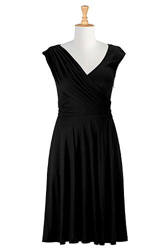 Shop women s designer fashion dresses tops size 0 36w for Jersey knit wedding dress