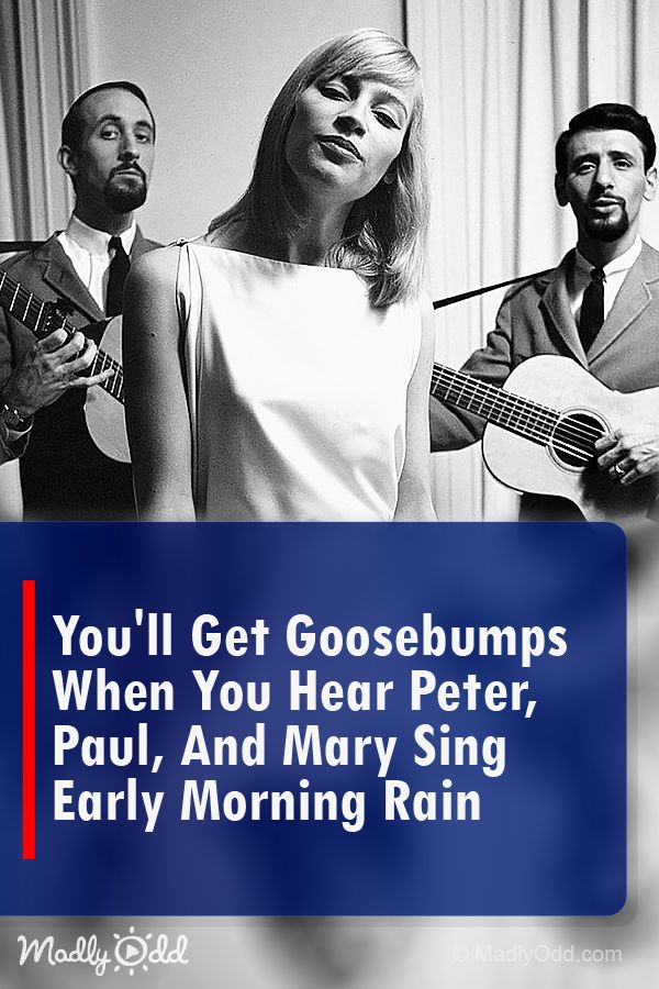 """Peter, Paul, and Mary sing """"Early Morning Rain"""" is music at its best. #music #nostalgia #singing #songs #entertainment"""