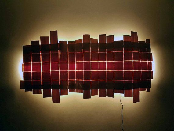 Hand made Veneer wall fixture  Sculptural ambient by PhiWorks
