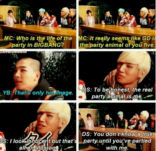 Kang Daesung, A.K.A Party Animal XD #Daesung #BIGBANG #Kpop