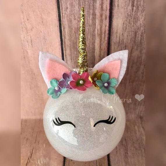 The biggest popular trend this year for Christmas are these unicorn ornament bulbs! The one above was made by SugarHats on Etsy. You can find them here. If you want to make your own, I would buy plastic or glass bulbs then pour glue & glitter inside and roll around. Make the unicorn horn out of …