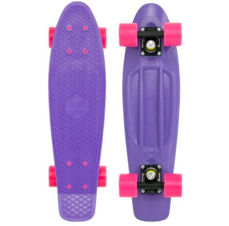 Purple and pink penny board: Pennies Skateboard, Complete Purpleblackpink, Pennies 22, Pennies Originals, Originals 22, Penny Skateboard, Complete Purple Black Pink, Pink Skateboard, Purple Pennies Boards