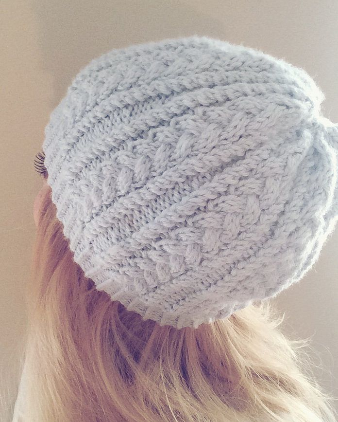 Free Knitting Pattern for 4 Row Repeat Katherine Hat - Twisted rib and mini cables are created in an easy to memorize 4 row repeat (with one of the rows a repeat row). Designed by Erin Kate.