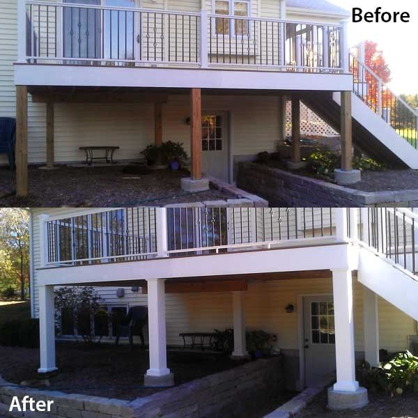 Deck Post Wrap Kits By Afco-Textured Black-6 In X 6 In-108