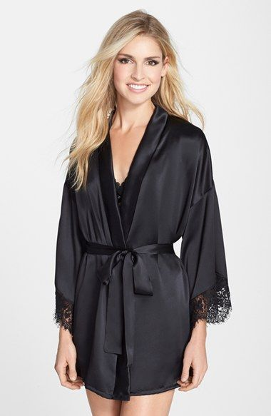 Hanky Panky 'Lady Catherine' Silk Satin Robe available at #Nordstrom