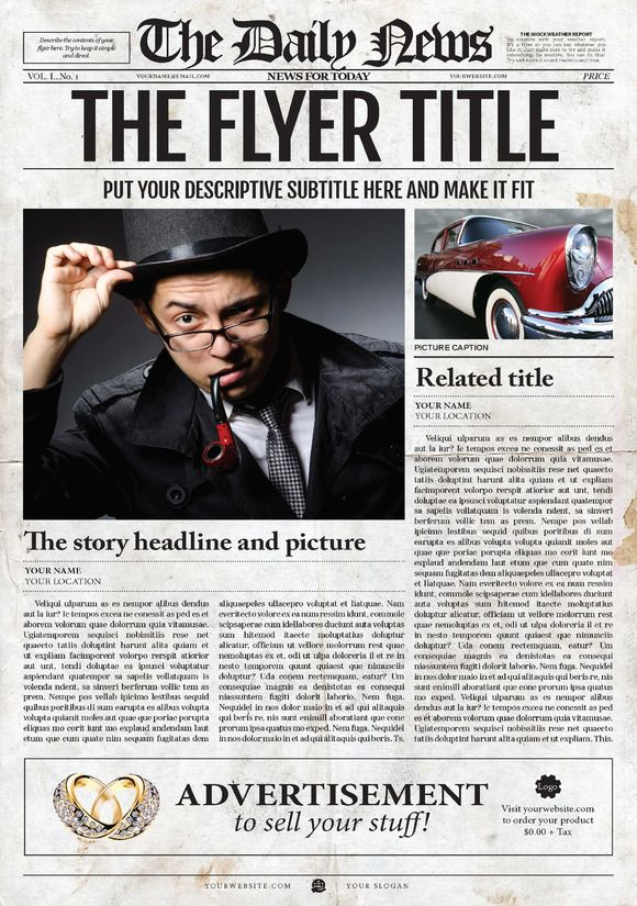 15 best newspaper template images on Pinterest | Flyer template ...