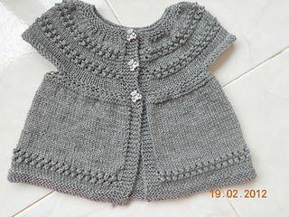 Yoked Baby Sweater