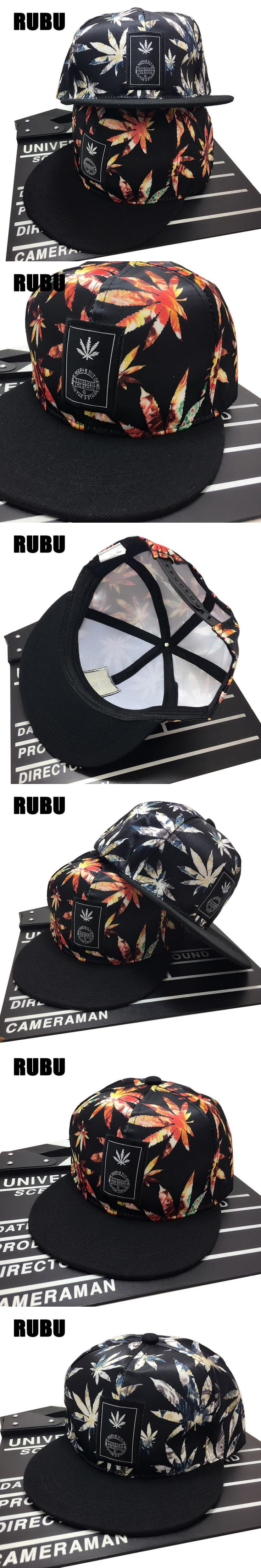 Gorra hats Fancy adult weeds leaves printing hip hop hats Embroidery decoration adult flat brim weed snapback caps for men women