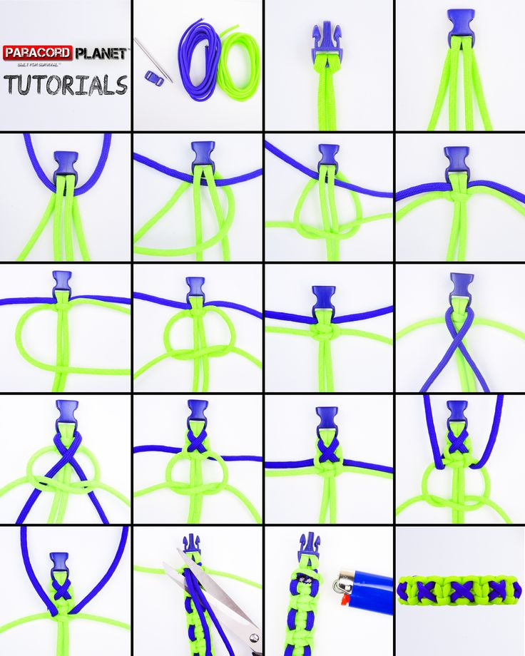 Crisscrossed Solomon Paracord Bracelet