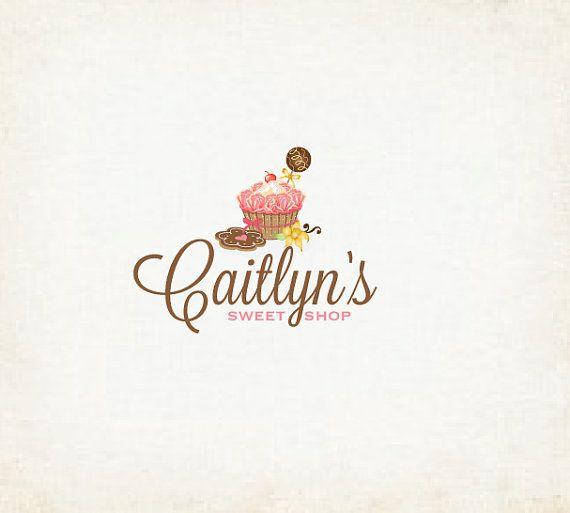 sweet shop logo, cupcakes, bakery cake logo design. @Olivia García García H it's perfect!!!