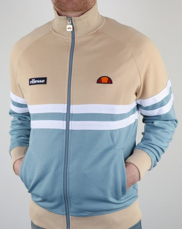 more photos 5e1f4 e4d86 Ellesse Rimini Track Top Blue Sand,tracksuit,jacket,mens