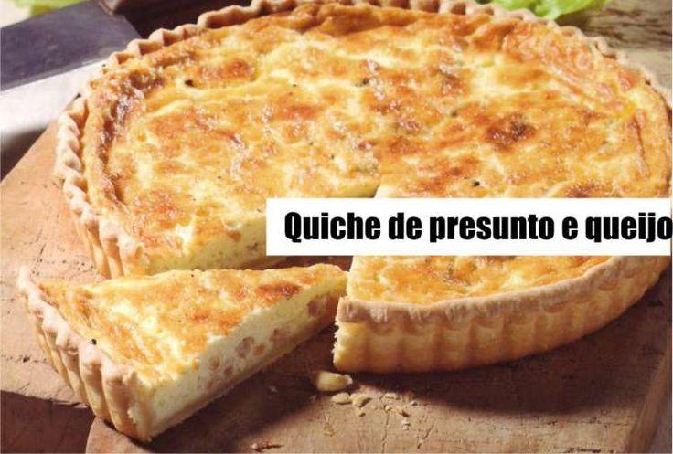 Receita de Quiche de presunto e queijo - Receita Toda Hora