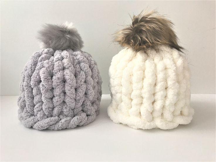 Hand Knit Blanket Chunky Pattern