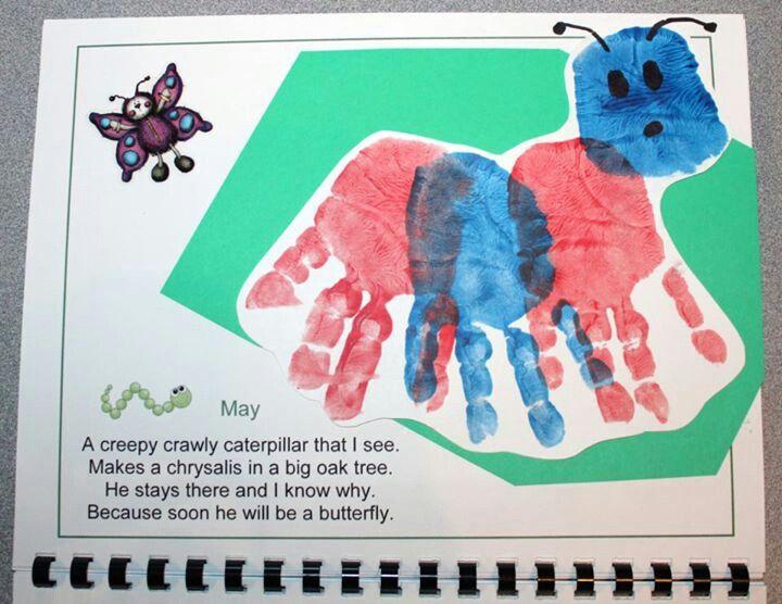 April Handprint Calendar : Images about handprint calendar on pinterest hand