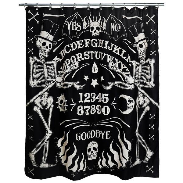 Skeleton Ouija Shower Curtain